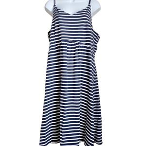 Old Navy Sleeveless Blue/White Stripe Dress